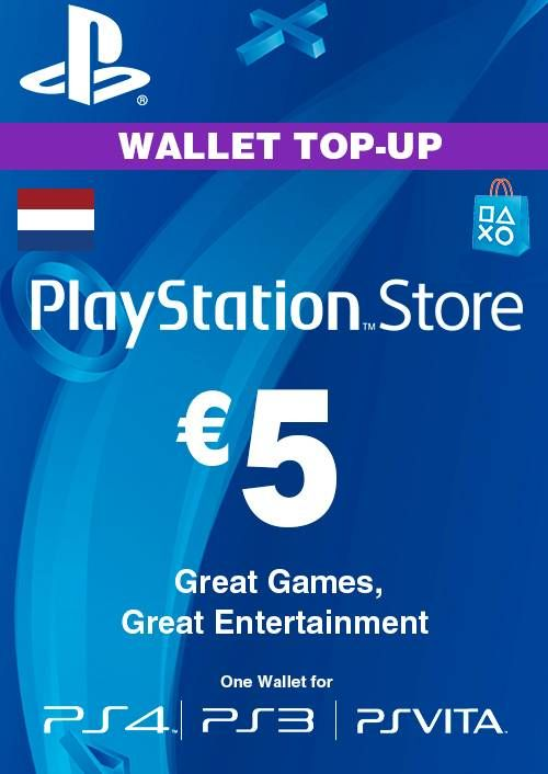 PlayStation Network (PSN) Card - 5 EUR (Netherlands)