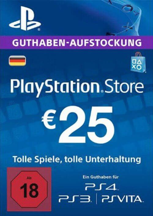 PlayStation Network (PSN) Card - 25 EUR (Germany)