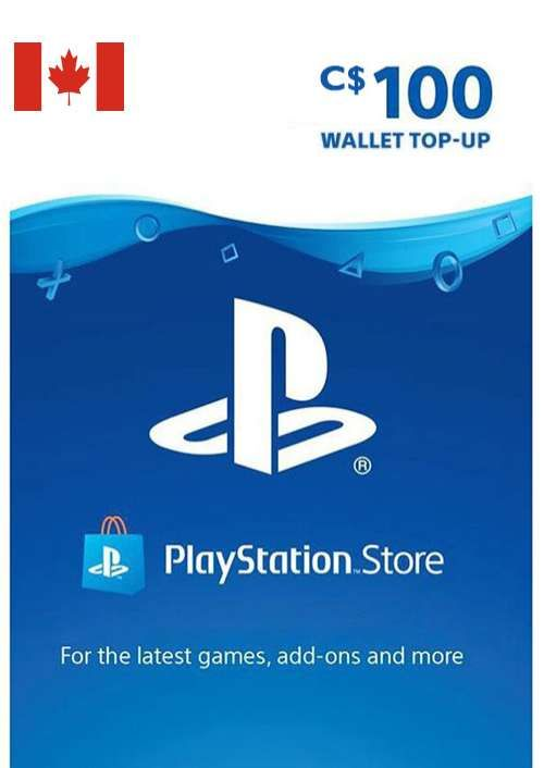 PlayStation Network (PSN)-kaart - 100 CAD (CANADA)