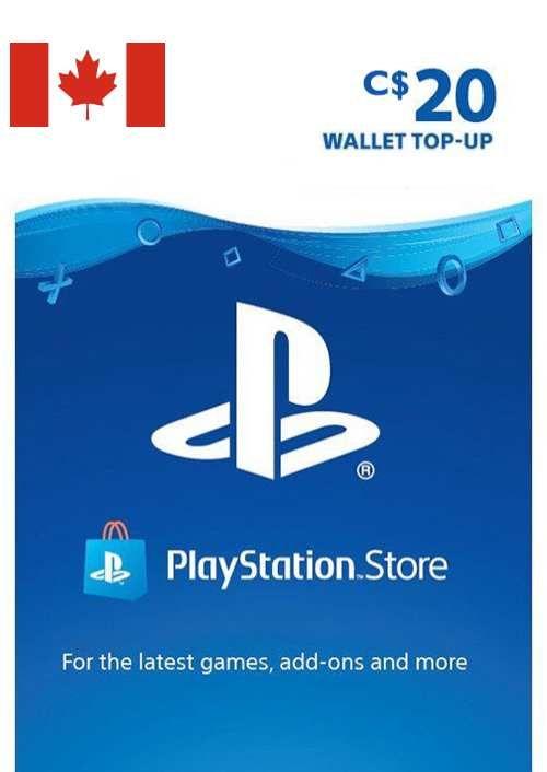 PlayStation Network (PSN)-kaart - 20 CAD (CANADA)