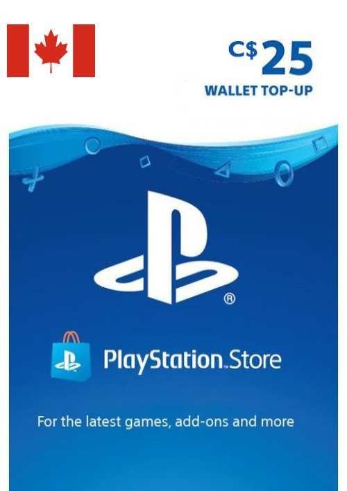 PlayStation Network (PSN)-kaart - 25 CAD (CANADA)