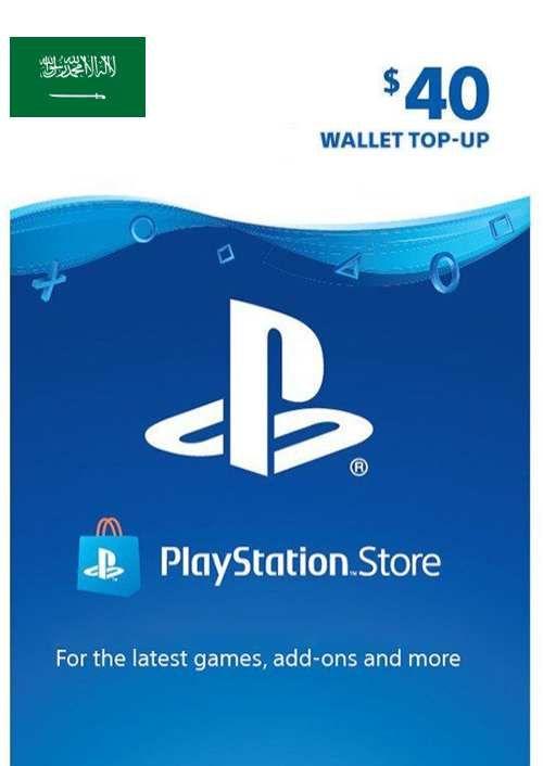 Carte PlayStation Network (PSN) - 40 USD (KSA)