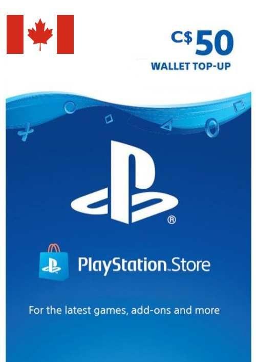 PlayStation Network (PSN)-kaart - 50 CAD (CANADA)