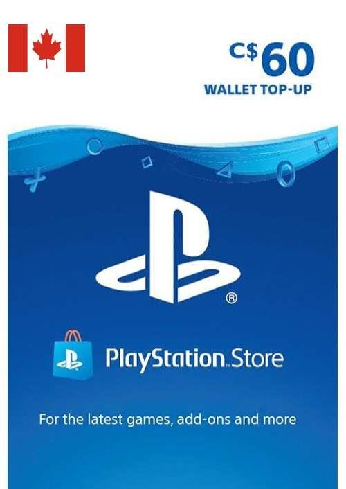 PlayStation Network (PSN)-kaart - 60 CAD (CANADA)