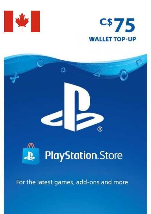 PlayStation Network (PSN)-kaart - 75 CAD (CANADA)