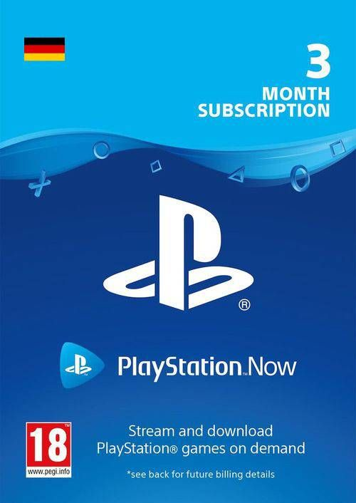 PlayStation Now 3 Month Subscription (Germany)