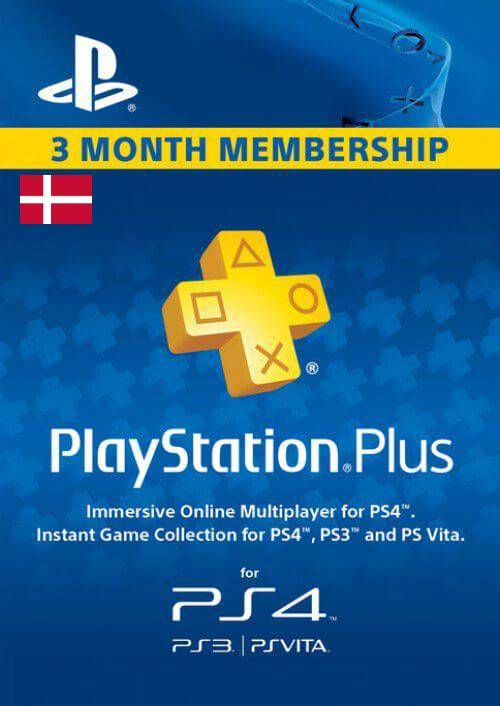 Playstation Plus - 3 Month Subscription (Denmark)