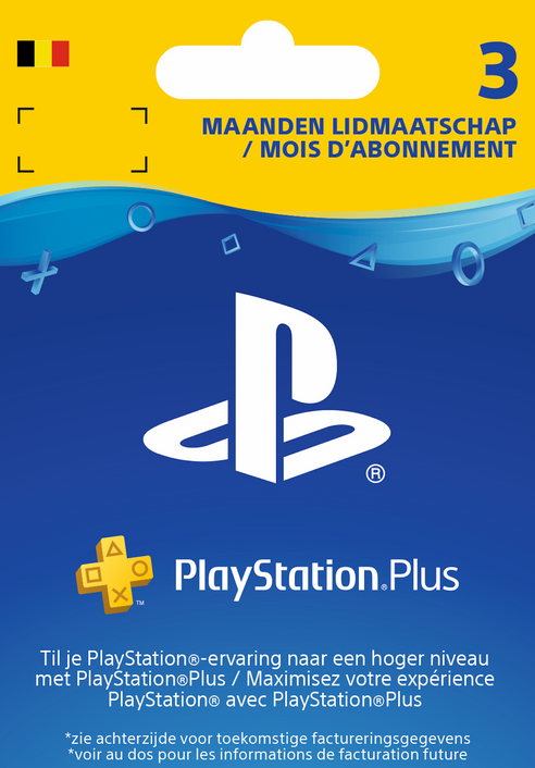 Playstation Plus (PS+) - 3 Month Subscription (Belgium)