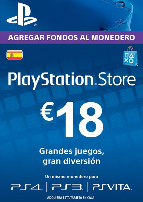 PlayStation Network (PSN) Card - 18 EUR (Spain)