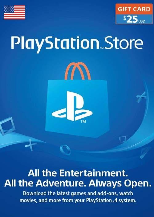 PlayStation Network (PSN) Card - 25 USD