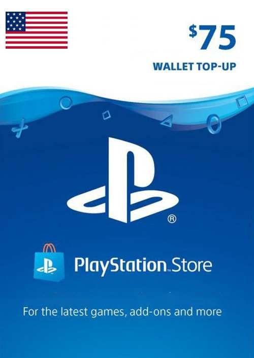 PlayStation Network (PSN) Card - 75 USD (USA)