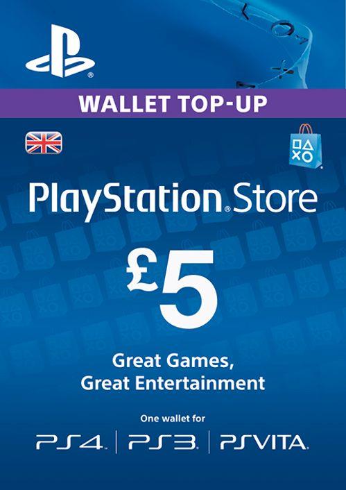 PlayStation Network Card - £7 (PS Vita/PS7/PS7) PlayStation/PS