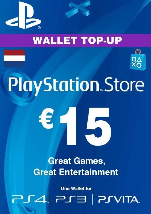 PlayStation Network (PSN) Card - 15 EUR (Netherlands)