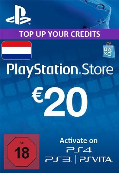 PlayStation Network (PSN) Card - 20 EUR (Netherlands)