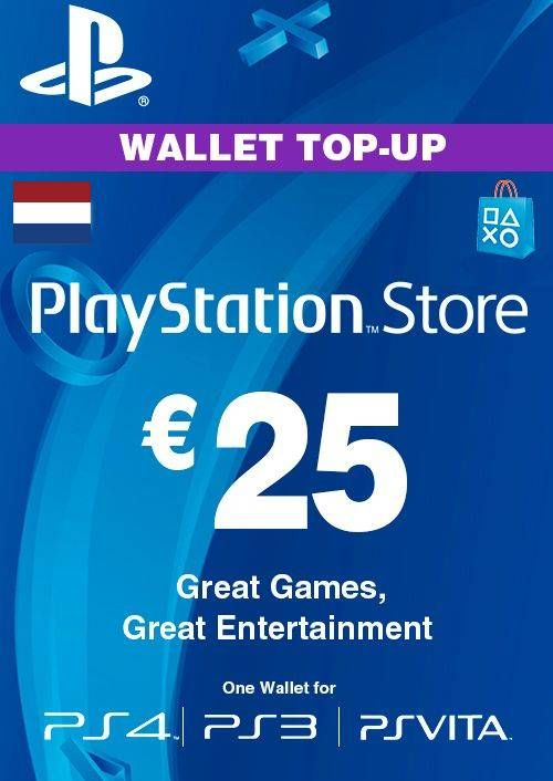 PlayStation Network (PSN) Card - 25 EUR (Netherlands)