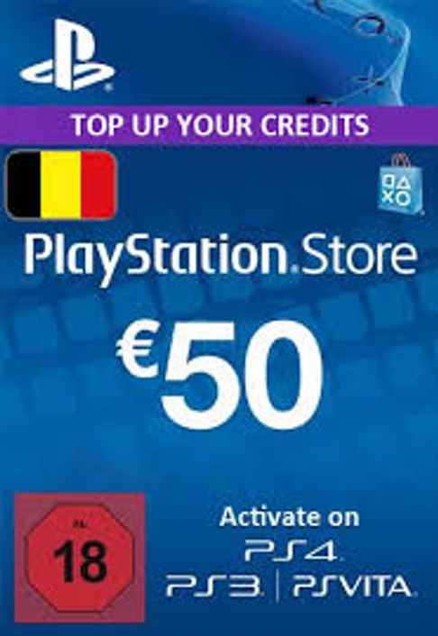 PlayStation Network (PSN) Card - 50 EUR (Belgium)