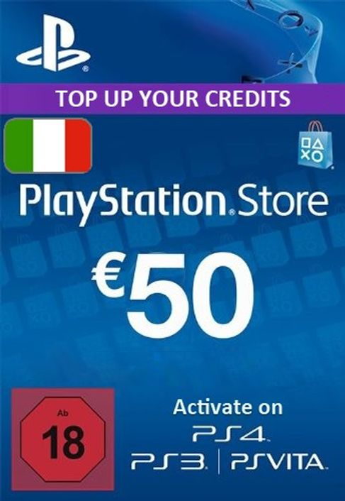 PlayStation Network (PSN) Card - 50 EUR (Italy)