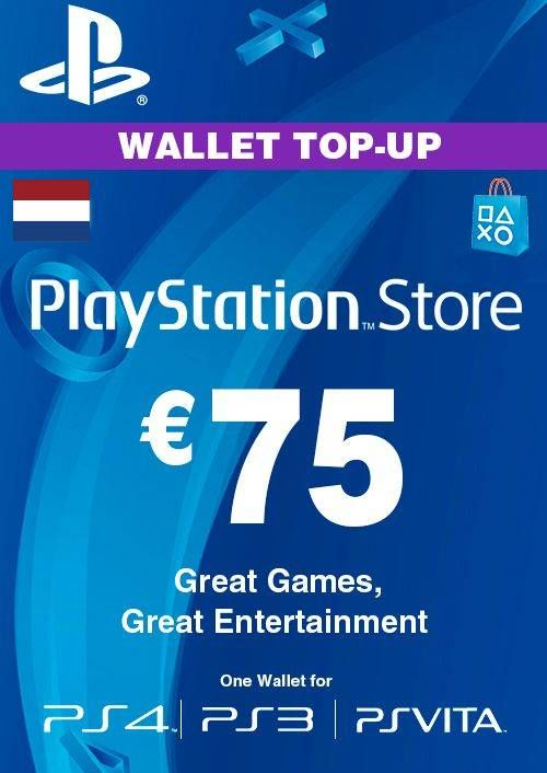 PlayStation Network (PSN) Card - 75 EUR (Netherlands)