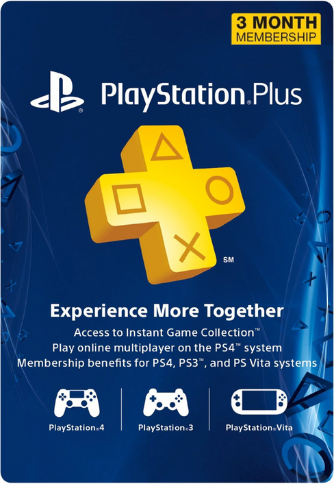3 Month Playstation Plus Membership (PS+) - PS3/ PS4/ PS Vita Digital Code (USA)