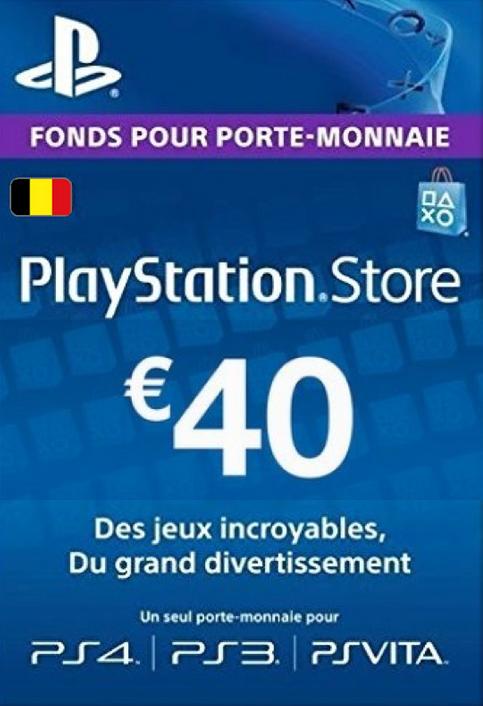 PlayStation Network (PSN) Card - 40 EUR (Belgium)