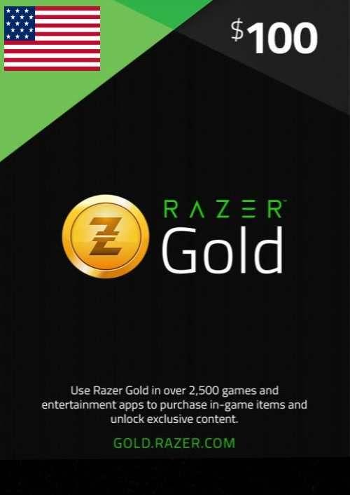 Razer Gold 100 USD (US)