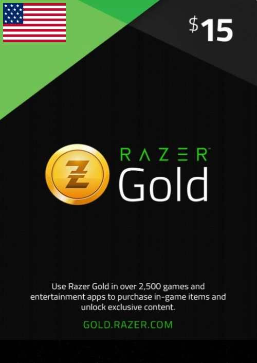 Razer Gold 15 USD (US)