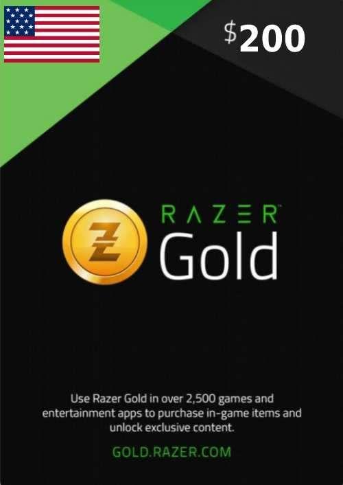 Razer Gold 200 USD (US)