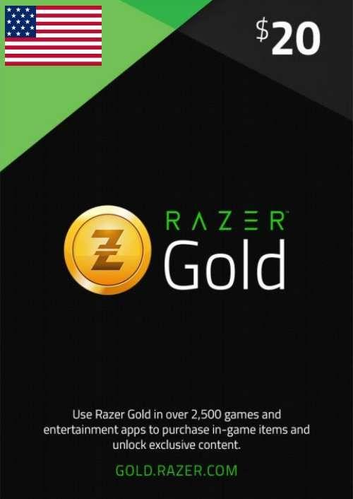 Razer Gold 20 USD (US)