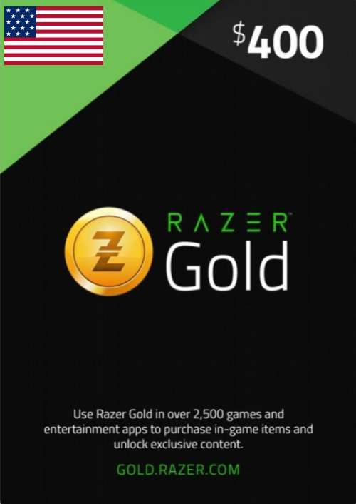 Razer Gold 400 USD (US)