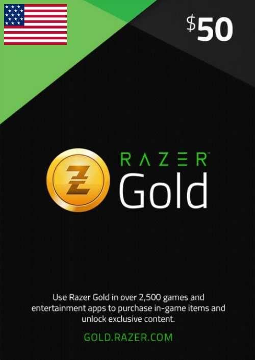 Razer Gold 50 USD (US)
