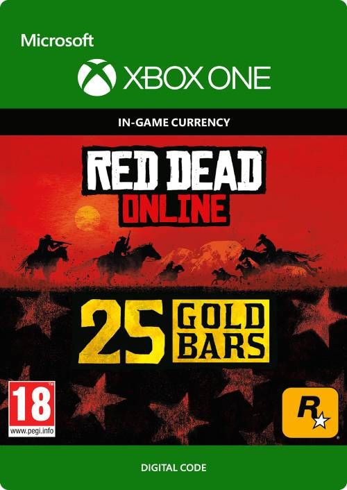 Red Dead Online: 25 Gold Bars Xbox One