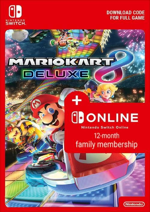 Mario Kart 8 Deluxe 12 Month Family Membership Switch