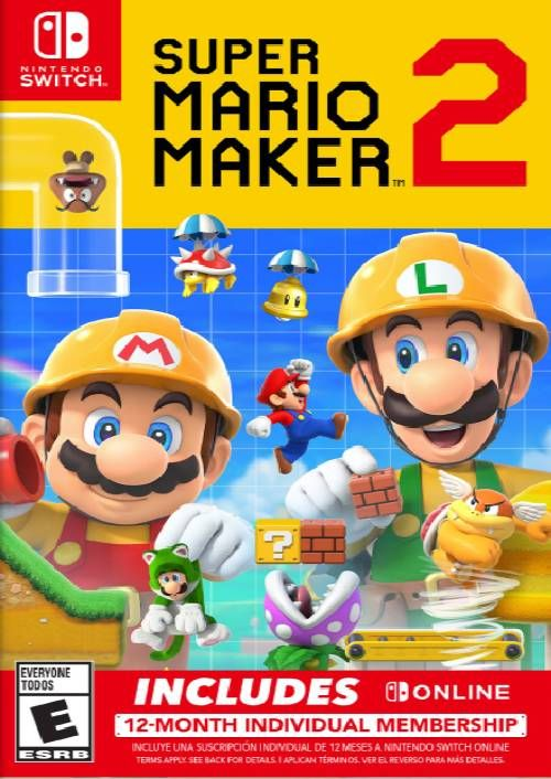 Super Mario Maker 2 + 12 Month Membership Switch (EU)