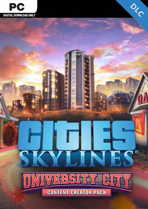 Cities Skylines PC - Content Creator Pack University City DLC