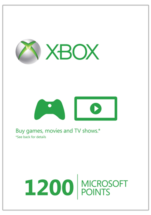 Xbox Live 1200 Microsoft Points (Xbox 360)