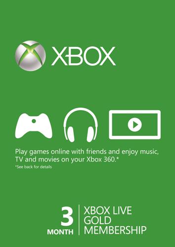 3 Monate Xbox Live - Gold-Mitgliedschaft (Xbox One/360)