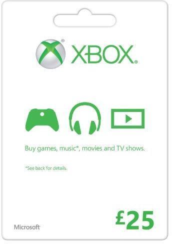 Microsoft Gift Card - £25 (Xbox One/360)