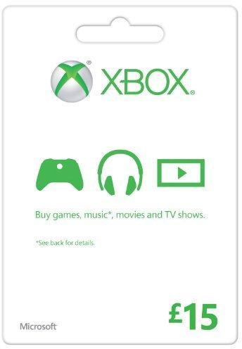 Microsoft Gift Card - £15 (Xbox One/360)