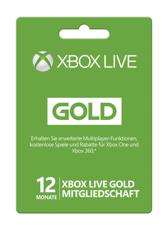 12 Monate Xbox Live Gold-Mitgliedschaft (Xbox One/360) billig Schlüssel zum Download