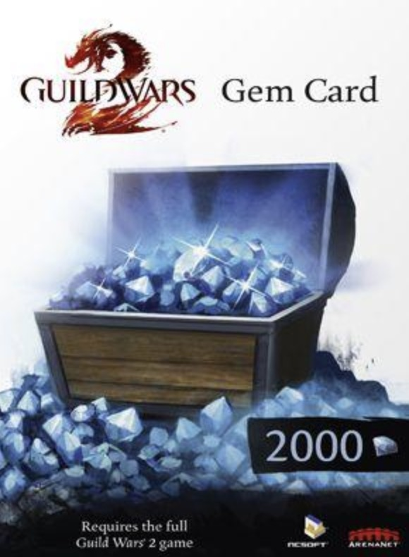 Guild Wars 2 2000 Gem Points Card (PC) cheap key to download