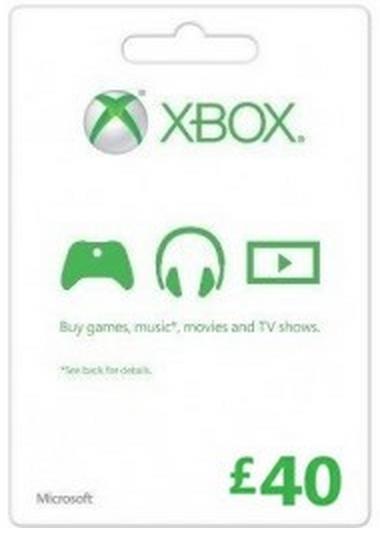 Microsoft Gift Card - £40 (Xbox One/360)