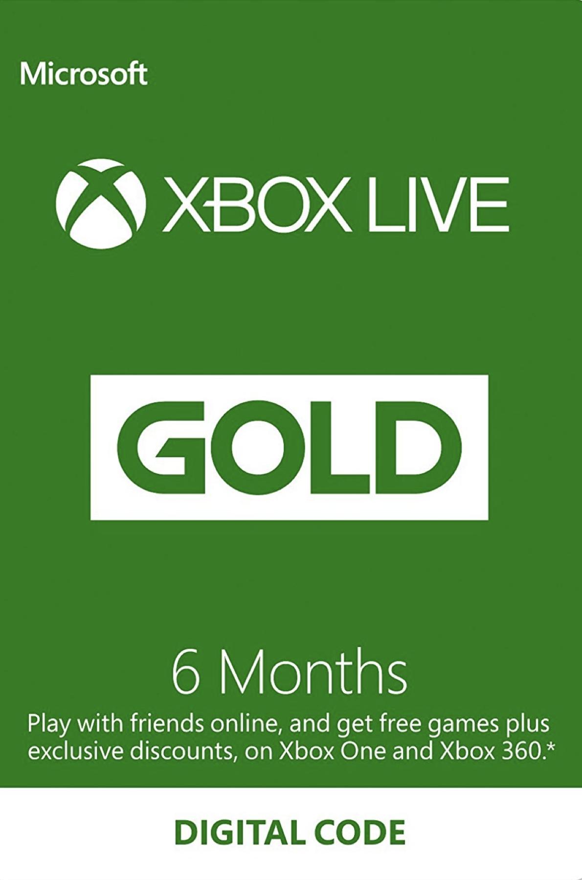 6 Monate Xbox Live Gold Mitgliedschaft (Xbox One/360)