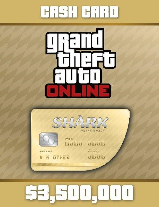 GTA Online Cash Gamecard Whale Shark