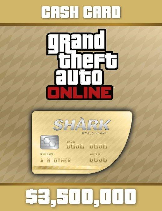 Grand Theft Auto Online (GTA V 5): Whale Shark Cash Card PC