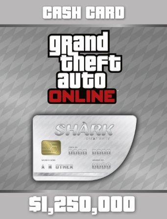 Grand Theft Auto Online (GTA V 5): Great White Shark Cash Card PC