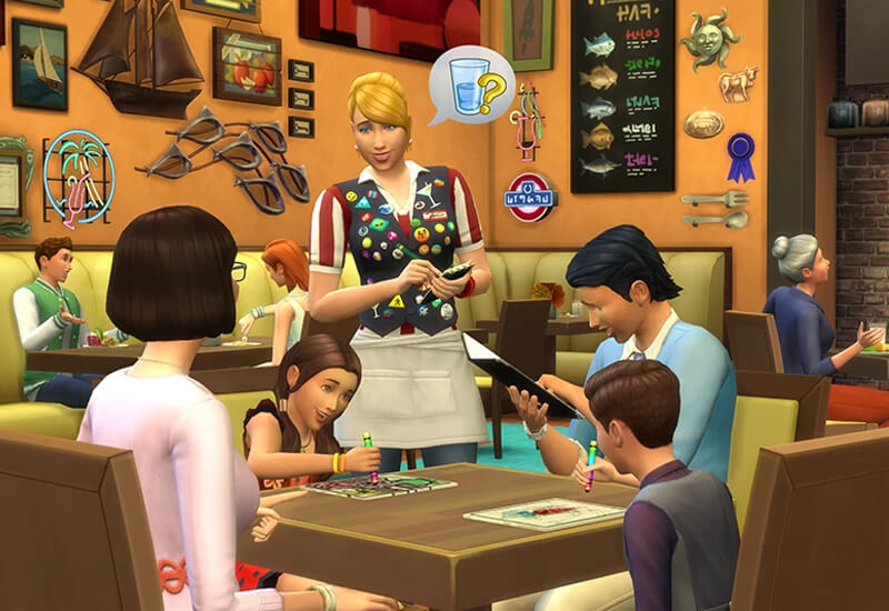 The Sims 4 Dine Out PS4 cheap key to download