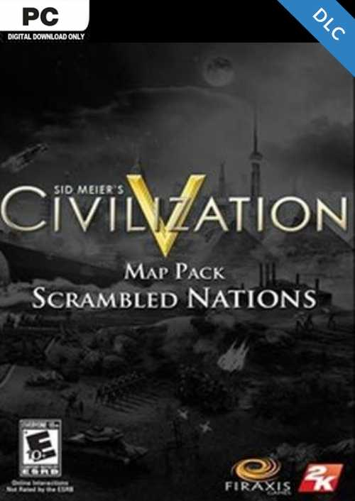 Civilization V  Scrambled Nations Map Pack PC key