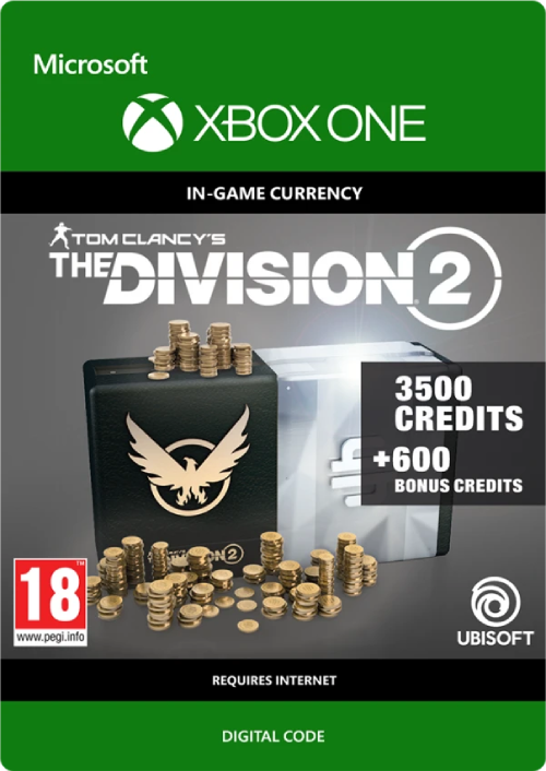 Tom Clancy's The Division 2 4100 Credits Xbox One key