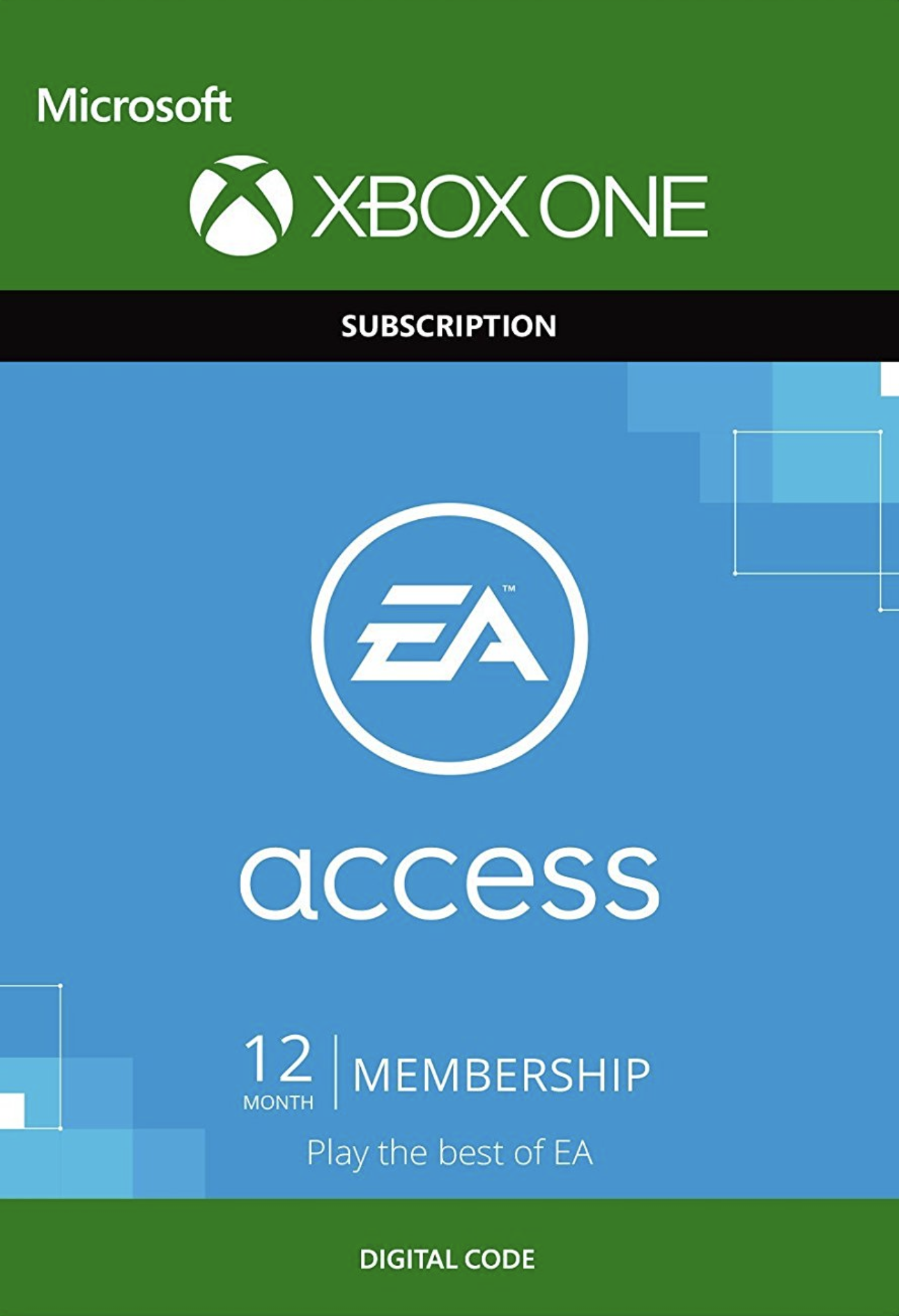 EA Access 12 Monate Gamecard Xbox One