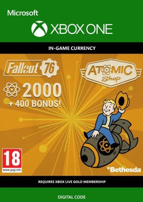 Fallout 76 2400 Atoms Xbox One